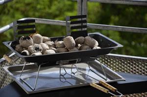Grillen auf dem Balkon