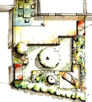 Ideen zur modernen gartengestaltung for Garten anlegen plan