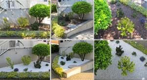 Vorgarten mit Kies und Splitt