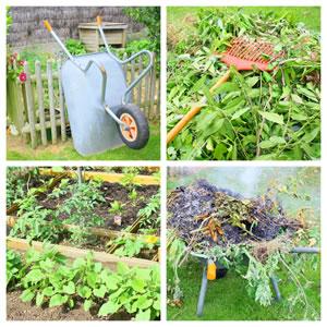 Gartenpflege und Erde