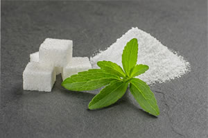 Ernte von Stevia